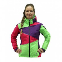 Bunda Blizzard Viva Performance Ski Jacket purple/grenadine/lime green vel. XS 15/16