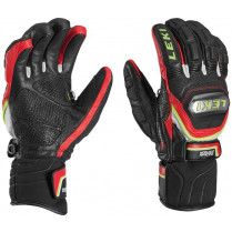 Lyž.rukavice LEKI Glove WorldCup Race TI Speed sys. blk/red/yel vel. 9,5